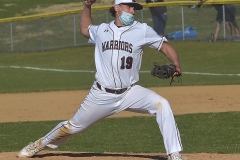 Chester Henderson's (19) Dylan Grim came in for relief in the middle innings.