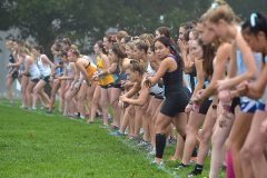 The second flight prepares to start in the Ches-Mont Cross County Championships at Unionville High School Wednesday.
