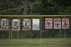The fences were lined with posters for the seniors.