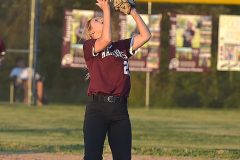 West Chester Henderson's Megn Macafee hauls in a pop up.