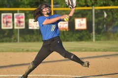Downingtown West's Natalie Beebe threw the entire game in the 3-2 victory.