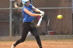 Downingtown West's Gemma Lewis knocks in the winning run for the 3-2 victory.