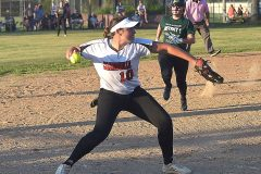Coatesville's (10) Kayla Bock makes an un assisted put out at third.