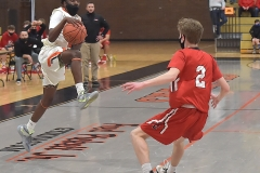 Chester freshman guard Kyree Womack drew the foul on this shot with under 8 seconds remaining then hit three fouls to tie the score as the Clippers defeated Crestwood in overtime of the PIAA quarterfinals Friday evening.