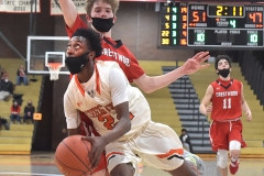 Chester Freshman guard Kyree Womack draws a foul in overtime as the Clippers defeated Crestwood in overtime of the PIAA quarterfinals Friday evening.