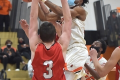 Chester's (30) KArell Watkins goes to the net in the second quarter as the Clippers defeated Crestwood in overtime of the PIAA quarterfinals Friday evening.