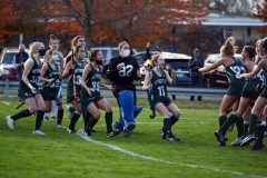 The Methacton field hockey team celebrates its District 1-3A quarterfinal win over Neshaminy on Thursday. (Owen McCue - MediaNews Group)
