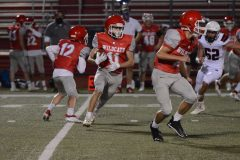 Owen J. Roberts' Christian Grossi (11) takes a carry against Boyertown on Friday. (Owen McCue - MediaNews Group)