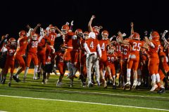 The Perkiomen Valley football celebrates its win over Upper Perkiomen on Friday night. (Owen McCue - MediaNews Group)