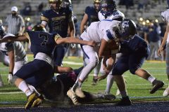 Great Valley quarterback (11) Andy Talone cores in the third quarter.