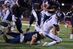 Great Valley receiver (2) Ryan Banavitch gains a first down in the second  quarter.
