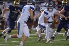 Great Valley quarterback (11) Andy Talone laterals to (28) Ben Maslowski in the third quarter.