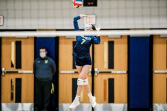 Unionville's Emma Yin serves in the first game. (Nate Heckenberger - For MediaNews Group)
