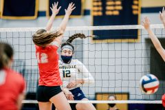 Unionville's Sophie Brenner scores against Parkland. (Nate Heckenberger - For MediaNews Group)
