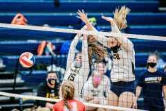 Unionville's Genna Weeber (28) and Ashlyn Wiswall (15). (Nate Heckenberger - For MediaNews Group)