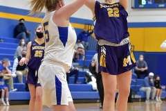 Mount St. Joseph's  Grace Niekelski. puts a shot up in the first quarter against Springfield.
