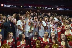 West Chester East players and fans celebrate the PIAA District 1 5A Championship after defeating Penn Wood at Liacouras Center Saturday afternoon.