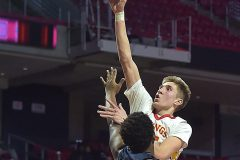 West Chester East's (15) Andrew Carr shoots over Penn Wood's (22) Desman Johnson in the second half.