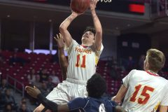 West Chester East's (11) jack Kushner shoots in the second half.