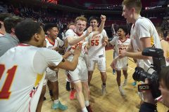 West Chester players celebrate their District 1 Championship.