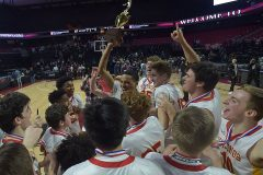 West Chester East's hold the District 1 trophy.