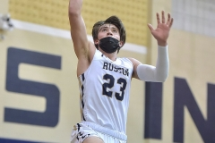 West Chester Rustin's (23) Griffin Barrouk goes to the net in the second quarter.