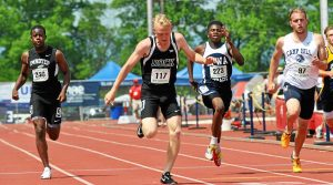 barry taglieber — for digital first media Austin Kratz raced a gold medal in the Class AA 200-meter dash Saturday at the PIAA State Championships.
