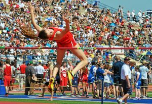 barry taglieber — for digital first mediaMoira O'Malley of Souderton Area earned a bronze medal in the Class AAA high jump Saturday at the PIAA State Championships.