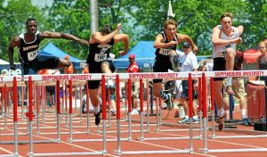 barry taglieber — for digital first media Josh Wolfe of Christopher Dock raced to a fifth-place medal in the Class AA 100-meter hurdles on Saturday.