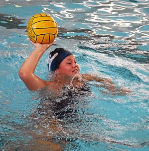 Girls Water Polo began practice on August 15, 2016, and Reese Trauger was one of the girls that with a smile and ready to practice.