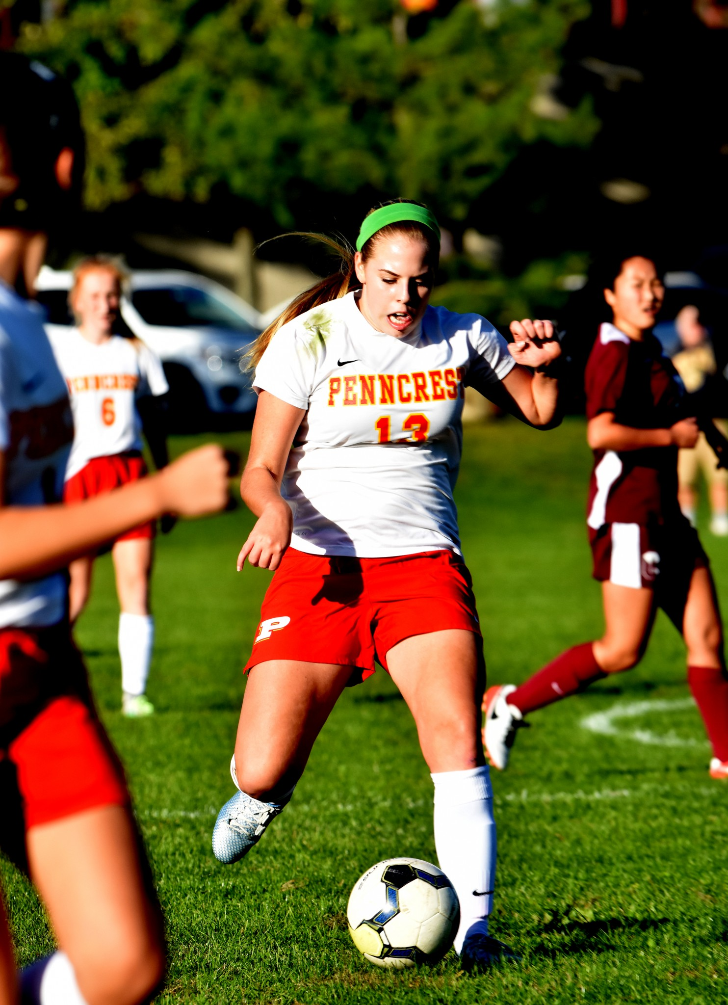 Penncrest's Gia Martyn scored a goal and helped set up another Tuesday as Penncrest drew with Conestoga, which is still unbeaten. (Digital First Media/Anne Neborak)