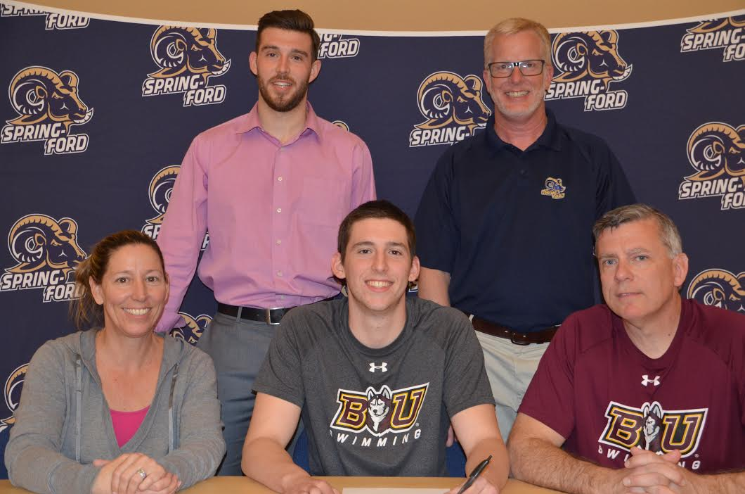 Spring ford s noah cancro signs with bloomsburg pa prep live for Bloomsburg university swimming pool