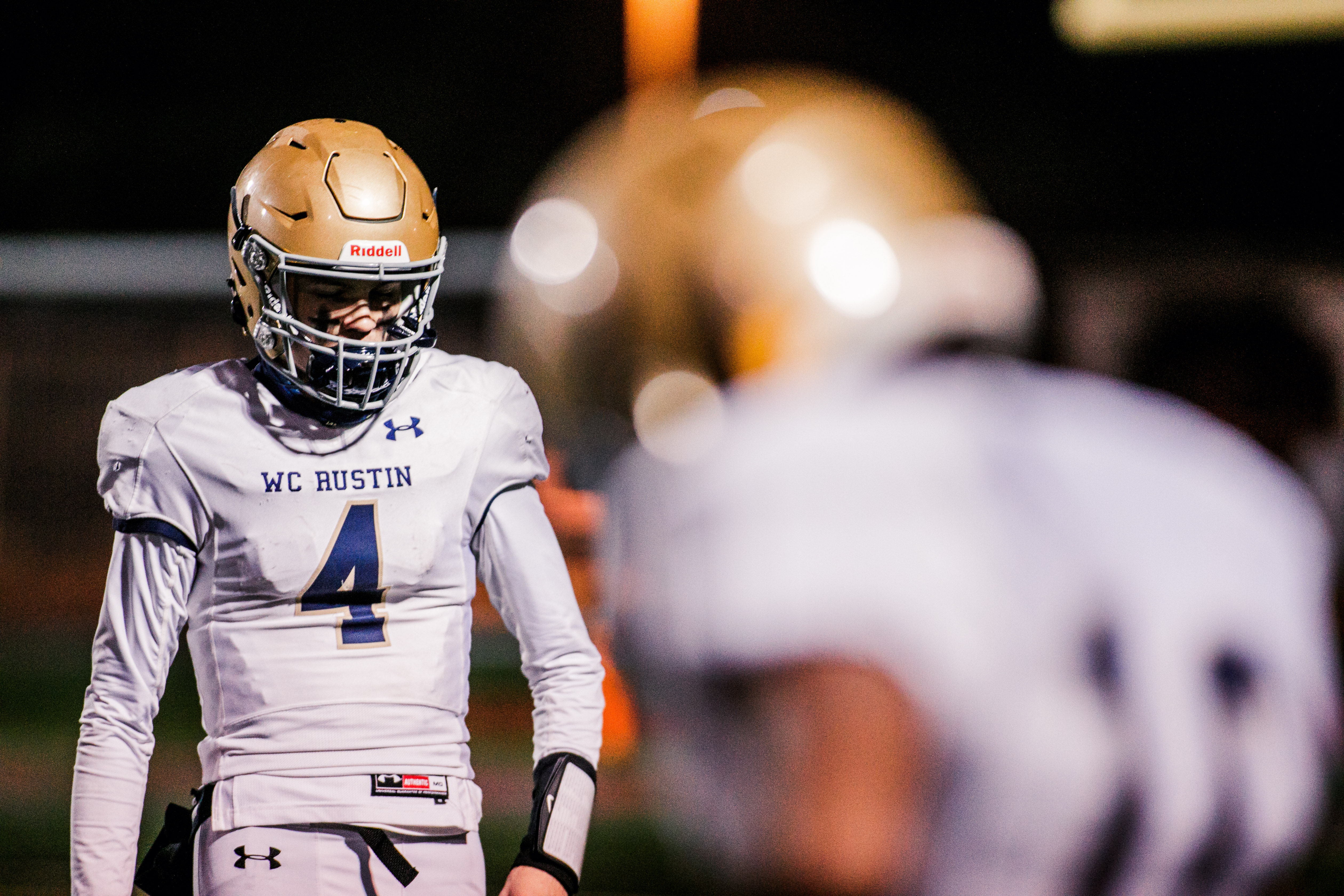 West Chester Rustin's John Crispino walks off dejectedly after an Upper Dublin touchdown. (Nate Heckenberger - For MediaNews Group)
