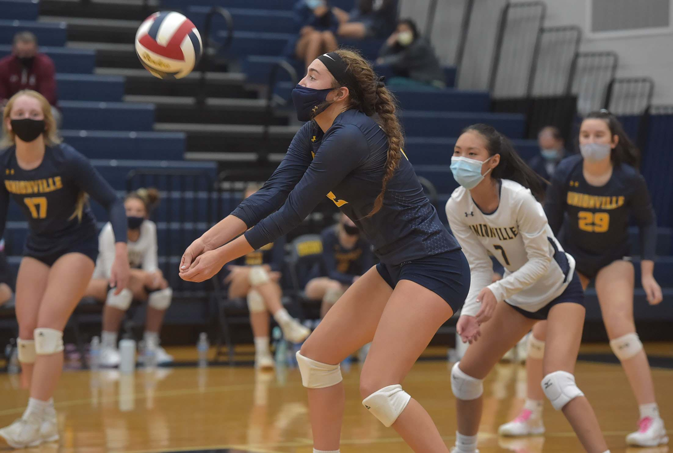 Unionville's (12) Sophie Brenner handles a ball in the decisive fourt game against Bishop Shanahan Wednesday afternoon.